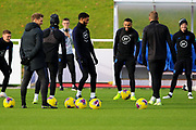 *** during the England football team training session at St George's Park National Football Centre, Burton-Upon-Trent, United Kingdom on 13 November 2019.