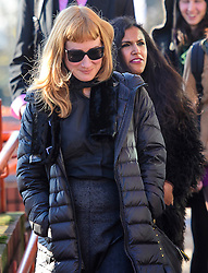 © Licensed to London News Pictures. 17/01/2017. London, UK. EWA JASIEWICZ (FRONT) AND ADITI JAGANATHAN (REAR), seen at lunch break outside Willesden Magistrates Court in west London where she is one of nine people charged with wilfully obstructing the highway at Heathrow Airport. A group of protesters supporting the Black Lives Matter group blocked the M4 spur road to Heathrow Airport in August last year. Photo credit: Ben Cawthra/LNP