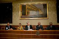 Roma 13 Novembre 2013<br /> Conferenza stampa al Senato del presidente della Repubblica araba Sahrawi Mohamed Abdelaziz in occasione dell'incontro con  l'Intergruppo parlamentare di solidarietà con il Popolo Sahrawi per fare il punto sulla situazione nel Sahara occidentale . Il  presidente della Repubblica araba Sahrawi Mohamed Abdelaziz con il senatore Stefano Vaccari