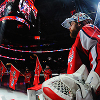 18 December 2015:  Washington Capitals goalie Braden Holtby (70) takes the ice at the Verizon Center in Washington, D.C. where the Washington Capitals defeated the Tampa Bay Lightning, 5-3. (Photograph by Mark Goldman - Goldminephotos)