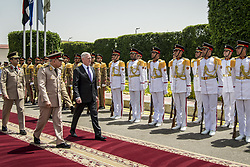 Apr 20, 2017 - Cairo, Egypt - Cairo Honor Cordon. Defense Secretary JIM MATTIS walks with Egyptian Defense Minister SEDKI SOBHY, who hosted an enhanced honor cordon for Mattis at the Defense Ministry in Cairo, April 20, 2017. DoD photo by Air Force Tech. Sgt. Brigitte N. Brantley. (Credit Image: ? Brigitte N. Brantley/DoD via ZUMA Wire/ZUMAPRESS.com)