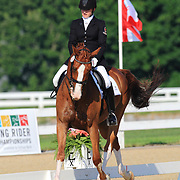 Monica Houweling and Stentano at the 2010 North American Young Rider Championships in Lexington, Kentucky.