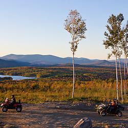 ATV's on a ridge at Jericho Mountain State Park in Berlin, New Hampshire. White Mountains.