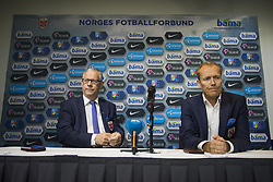 September 2, 2017 - Oslo, NORWAY - 170902 Lars LagerbÅ ck, head coach of Norway and Svein Graff, Communications director of the Norwegian Football Association (NFF) during a press conference on September 2, 2017 in Oslo..Photo: Fredrik Varfjell / BILDBYRN / kod FV / 150001 (Credit Image: © Fredrik Varfjell/Bildbyran via ZUMA Wire)