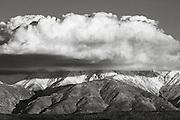 Cloud over Boundary Peak, California-Nevada border.