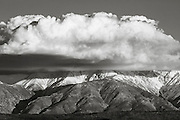 Cloud over Boundary Peak, California-Nevada border.