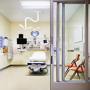 Interior of Kaiser San Rafael ED by Lionakis. Healthcare Infrastructure - Architectural Example of Chip Allen Photography.