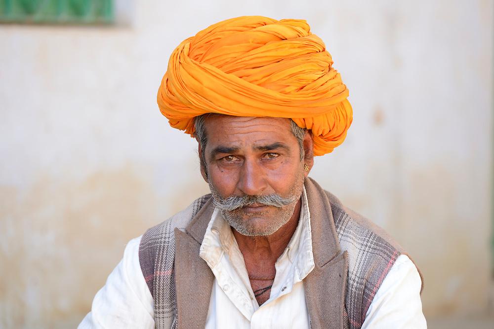 Man with turban,Pushkar, India,Asia