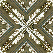 Digital abstract kaleidoscope of shapes and lines ans design pattern.