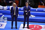 Vitucci Francesco Frank, Lezzi Antonio<br />  Happycasa Brindisi - Segafredo Virtus Bologna<br /> Legabasket serieA  2018-2019<br /> Brindisi ,22/12/2018<br /> Foto Ciamillo-Castoria / M.Longo