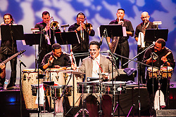 Tito Puente, Jr. and his Orchestra perform at the Reichhold Center of the Arts.  Puente's performance marks 25 years and 3 days since his father, renowned Latin jazz and salsa musician performed on this same stage for a Virgin Islands audience.  Tito Puente, Jr. nurtures his father's musical legacy by performing the classic compostions for which he was known.  throughout © Aisha-Zakiya Boyd
