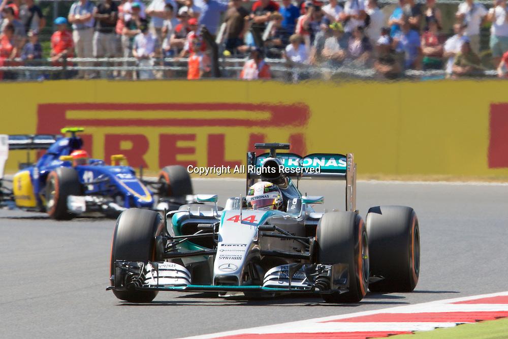 03.07.2015. Silverstone, Northants, England. Formula 1 British Grand Prix practice. Lewis Hamilton, Mercedes AMG Petronas F1 Team.
