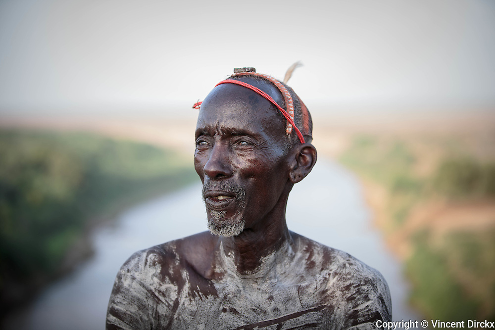 Karo Warrior, Korcho Village, Omo Valley, Ethiopia