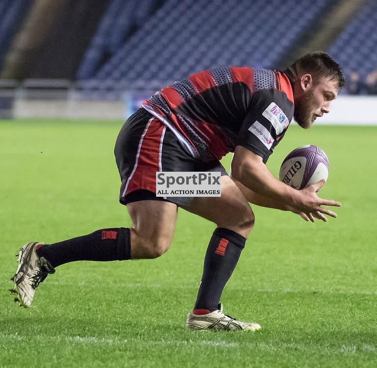 Edinburgh #1 Rory Sutherland gathers the ball.  Edinburgh Rugby v London Irish, 18th December 2015