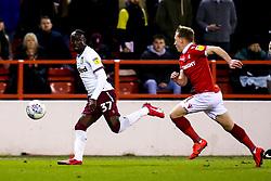 Albert Adomah of Aston Villa takes on Ben Osborn of Nottingham Forest - Mandatory by-line: Robbie Stephenson/JMP - 13/03/2019 - FOOTBALL - The City Ground - Nottingham, England - Nottingham Forest v Aston Villa - Sky Bet Championship