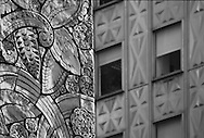 Detail of Chanin Building foreground, Mobil Buiding background. 122 East 42nd St., SW corner Lexington Ave. New York, NY