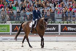 Jens Lasse Dokkan, (NOR), Heiberg - Freestyle Grade Ia Para Dressage - Alltech FEI World Equestrian Games™ 2014 - Normandy, France.<br /> © Hippo Foto Team - Leanjo de Koster<br /> 25/06/14