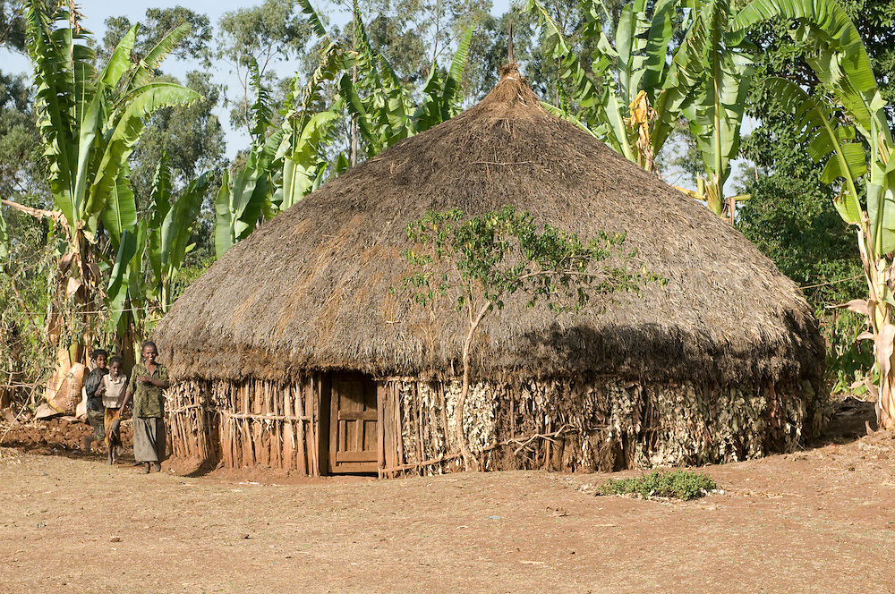 Traditional hut in Southern Ethiopia,Africa