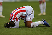 Stoke City defender Ashley Williams (5) on loan from Everton, during the The FA Cup 3rd round match between Shrewsbury Town and Stoke City at Greenhous Meadow, Shrewsbury, England on 5 January 2019.