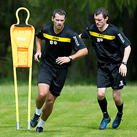 St Johnstone pre-seson training....24.06.11<br /> David McCracken and David Robertson<br /> see story by Gordon Bannerman Tel: 07729 865788<br /> Picture by Graeme Hart.<br /> Copyright Perthshire Picture Agency<br /> Tel: 01738 623350  Mobile: 07990 594431