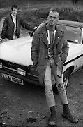 Neville and Symond with Ford Capri, High Wycombe, UK, 1980s.