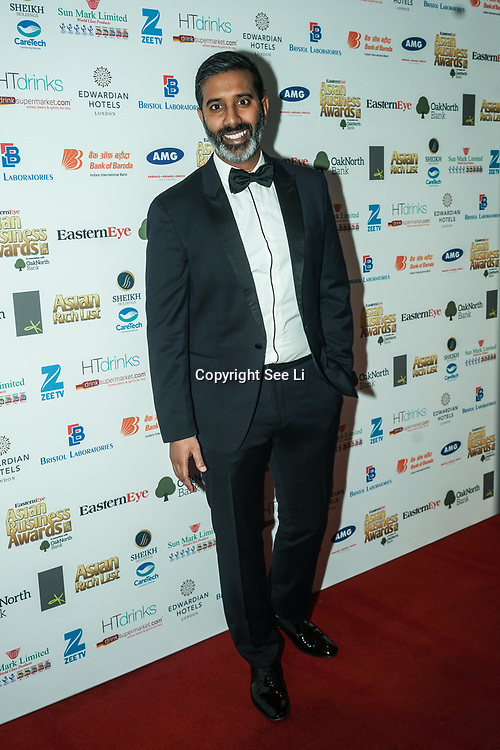 Nihal Arthanayake Host of Asian Business Awards attands the 2017 Asian Business Awards,London,UK. by See Li