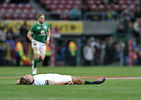 11 June 2016, Patrick Lambie of South Africa lays unconscious during the South Africa versus Ireland Test Match at Newlines Stadiu,  Cape Town, SOUTH AFRICA.<br /> <br /> <br /> Photo by:Luigi Bennett/Image SA
