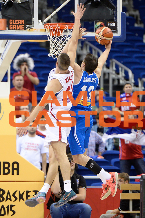 DESCRIZIONE : Berlino Berlin Eurobasket 2015 Group B Serbia Islanda <br /> GIOCATORE :  Hordur  Axel Vilhjalmsson<br /> CATEGORIA : Controcampo tiro difesa curiosita<br /> SQUADRA : Iceland<br /> EVENTO : Eurobasket 2015 Group B <br /> GARA : Serbia Islanda <br /> DATA : 08/09/2015 <br /> SPORT : Pallacanestro <br /> AUTORE : Agenzia Ciamillo-Castoria/I.Mancini <br /> Galleria : Eurobasket 2015 <br /> Fotonotizia : Berlino Berlin Eurobasket 2015 Group B Serbia Islanda