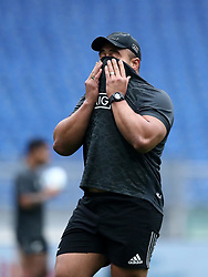 November 23, 2018 - Rome, Italy - Rugby All Blacks captains run - Cattolica Test Match.Ngani Laumape at Olimpico Stadium in Rome, Italy on November 23, 2018. (Credit Image: © Matteo Ciambelli/NurPhoto via ZUMA Press)