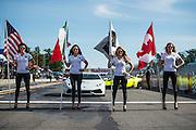 June 25 - 27, 2015: Lamborghini Super Trofeo Round 3-4, Watkins Glen NY. Lamborghini grid girls