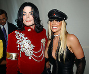 Michael Jackson and Britney Spears backstage at the 2002 MTV Video Music Awards at Radio City Music Hall in New York City,  August 29, 2002.  Photo by Frank Micelotta/ImageDirect.