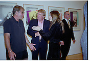 Richard Johnson, Donald Trump and Melania Knauss. Azzadine Alaia installation. 575 Broadway. NY. 22 September 2000. © Copyright Photograph by Dafydd Jones 66 Stockwell Park Rd. London SW9 0DA Tel 020 7733 0108 www.dafjones.com
