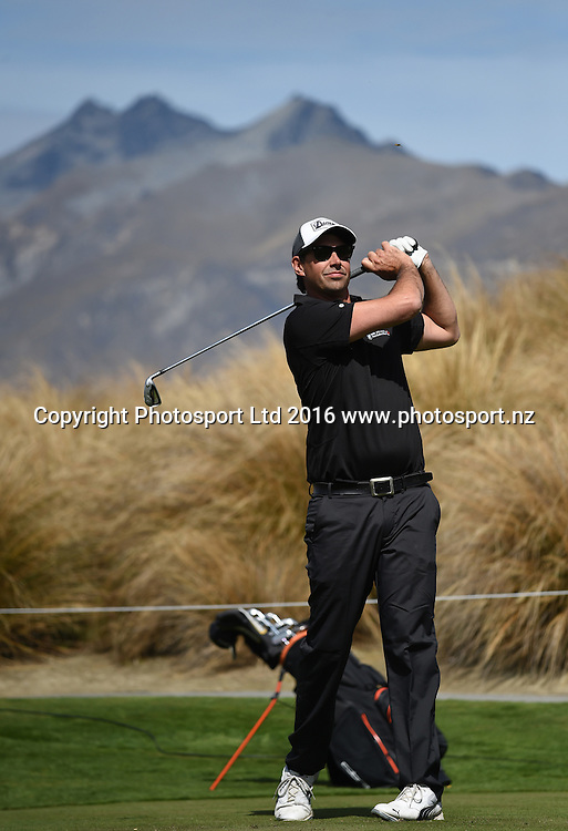 Stephen Fleming at The Hills golf course in Arrowtown ahead of this week's 2016 BMW ISPS Handa New Zealand Open. Wednesday 9 March 2016. Copyright photo: Andrew Cornaga / www.photosport.nz