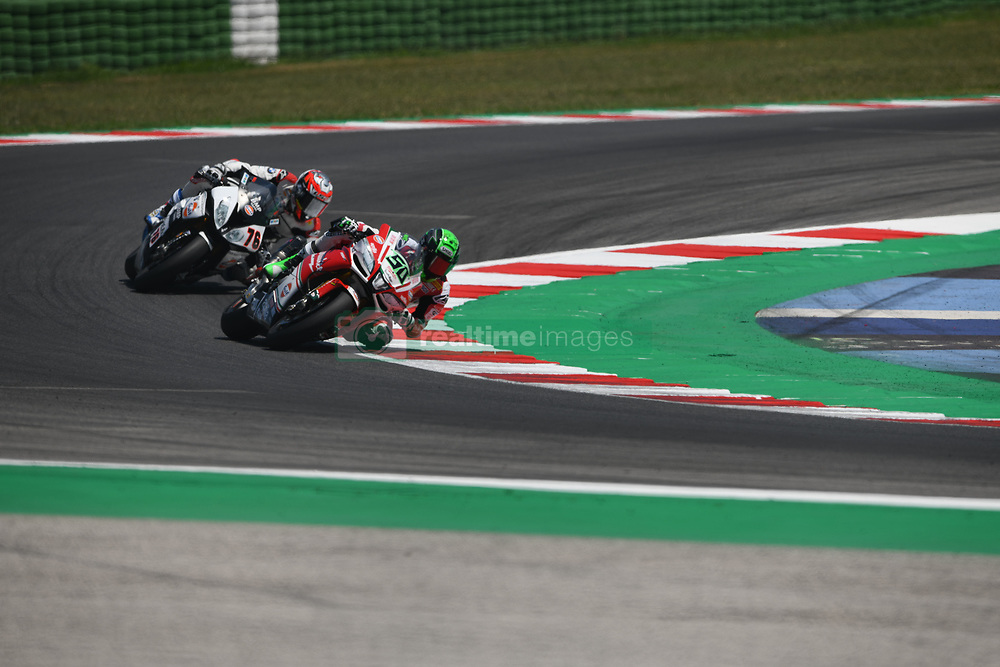 July 8, 2018 - Misano, Italy, Italy - 50 Eugene Laverty (1) IRL Aprilia RSV4 RF Milwaukee Aprilia during the Motul FIM Superbike Championship - Italian Round  Sunday race during the World Superbikes - Circuit PIRELLI Riviera di Rimini Round, 6 - 8 July 2018 on Misano, Italy. (Credit Image: © Fabio Averna/NurPhoto via ZUMA Press)