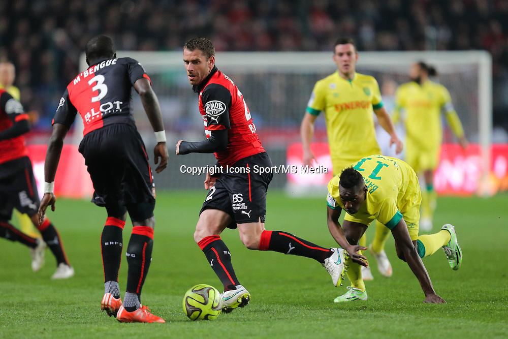 Sylvain ARMAND / Ismael BANGOURA - 21.03.2015 - Rennes / Nantes - 30eme journee de Ligue 1<br />Photo : Vincent Michel / Icon Sport