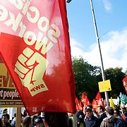 Anti-governament demonstration in Dublin, 29/09/2010.