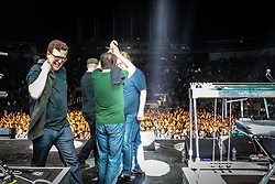 The Proclaimers at Edinburgh Castle 21 July 2019; The Proclaimers play their home town with a live show at Edinburgh Castle. The band soak up the fans adulation after the encore.<br /> <br /> (c) Chris McCluskie | Edinburgh Elite media