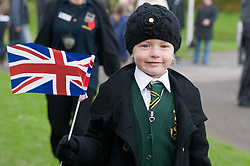 © under license to London News Pictures.  04/11/2010. .Pictured: Ellie Potter aged 6.People of Plymouth set out to the Hoe to see off a team of marines marching across the country. The Royal Marine team consists of Ram Patten, Ralph Cottrell, Kevin Rose, Sean Power and RAF veteran Matthew Bennett.