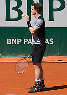 Andy Murray (GBR)<br /> <br /> Tennis - French Open 2015 - Grand Slam ITF / ATP / WTA -  Roland Garros - Paris -  - France  - 1 June 2015.