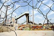 The footbridge entrance to Vigario Geral..Nicola Dracoulis, Rio de Janeiro, Brazil, October 2006.