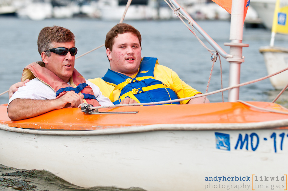 AUGUST 21, 2010 - Baltimore, MD, USA - The 9th Annual Ya' Gotta' Regatta, hosted by the Downtown Sailing Center in Baltimore, showcases the sailing programs for people with disabilities. - IMAGE © Andy Herbick 2010 | www.andyherbickphotography.com - ALL RIGHTS RESERVED.