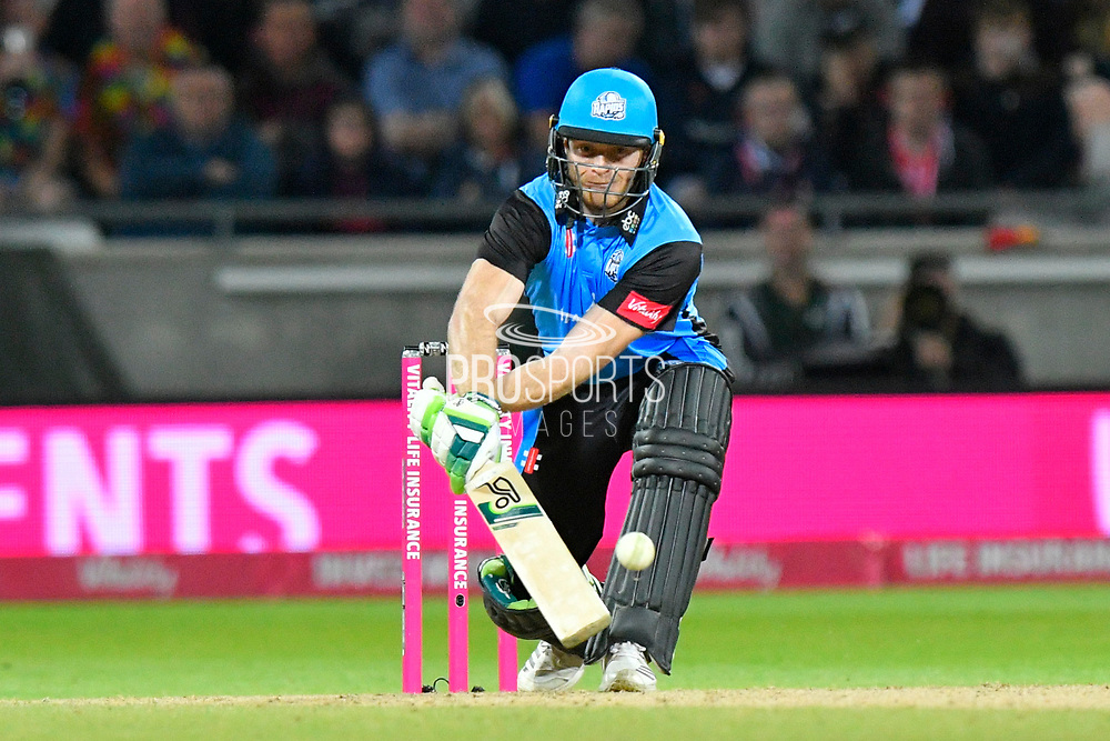 Ben Cox of Worcestershire paddles the ball behind him during the final of the Vitality T20 Finals Day 2018 match between Worcestershire Rapids and Sussex Sharks at Edgbaston, Birmingham, United Kingdom on 15 September 2018.