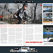 Double truck and article on Justin Knotzke in CyclePresse