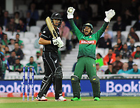Cricket - 2019 ICC Cricket World Cup - Group Stage: Bangladesh vs. New Zealand<br /> <br /> Ross Taylor of NZ is caught behind by wicket keeper, Mushfiqur Rahim, at Kia Oval.<br /> <br /> COLORSPORT/ANDREW COWIE