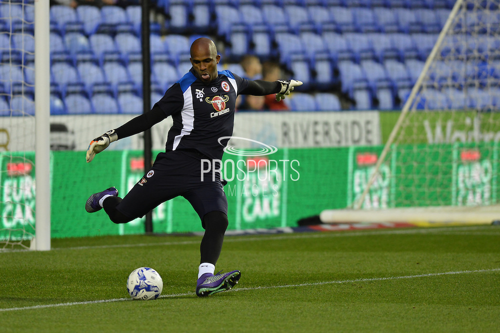 Reading FC goalkeeper (26) Ali Al Habsi warming up before the EFL Sky Bet Championship match between Reading and Ipswich Town at the Madejski Stadium, Reading, England on 9 September 2016. Photo by Mark Davies.
