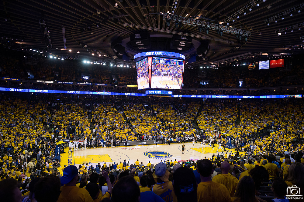 The Golden State Warriors host the Cleveland Cavaliers during Game 2 of the NBA Finals at Oracle Arena in Oakland, Calif., on June 4, 2017. (Stan Olszewski/Special to S.F. Examiner)