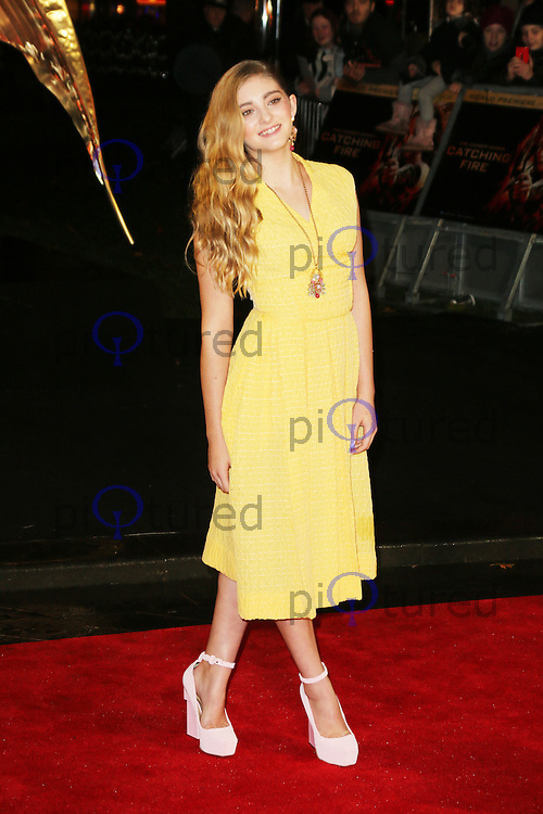 Willow Shields, The Hunger Games: Catching Fire - World film premiere, Leicester Square, London UK, 11 November 2013, Photo by Richard Goldschmidt
