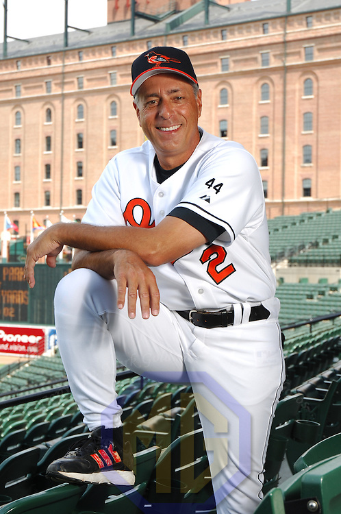 15 April 2006: Manager Sam Perlozzo of the Baltimore Orioles poses for a portrait in the stands at Orioles Park at Camden Yards in Baltimore, MD.