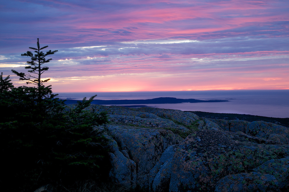 Sunrise from Cadillac Mountain Bar Harbor, Maine