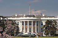 Marine One landed on the White House South Lawn, located at 1600 Pennsylvania Avenue NW.